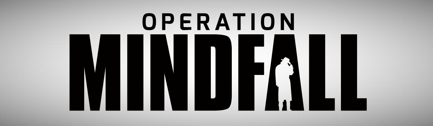 Operation Mindfall Logo Schwarz Weiß